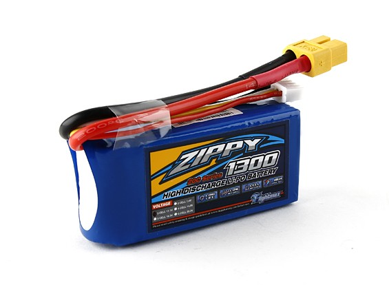 ZIPPY Flightmax 1300mAh 3S1P 20C LiPo Pack