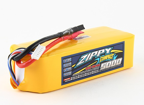 ZIPPY Compact 5000mAh 6s 60c Lipo Pack