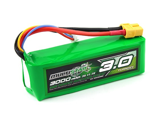 MultiStar High Capacity 3000mAh 3S 10C Multi-Rotor Lipo Pack