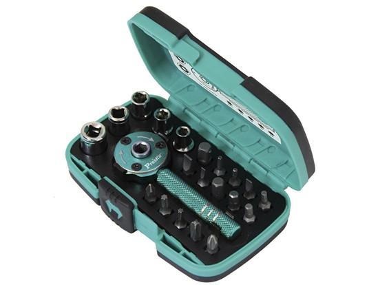 22 Piece Palm Ratchet Wrench & Socket Set