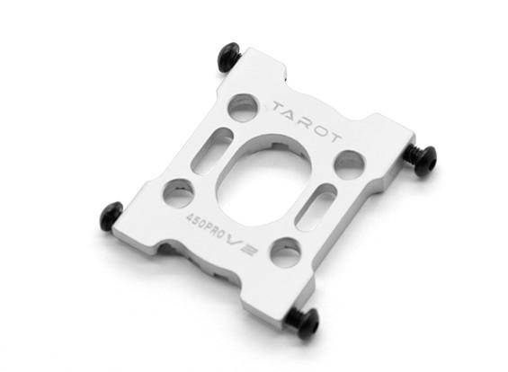 Tarot 450 Pro/Pro V2 DFC Metal Motor Mount - Silver (TL45030-03)