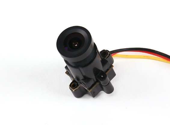 Mini CMOS FPV Camera 520TVL 120deg Field Of Vision 0.008LUX 14 x 14 x 29mm (PAL)