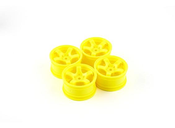 Sweep Mini 5 Spoke Wheel Type A - Yellow (4pcs)