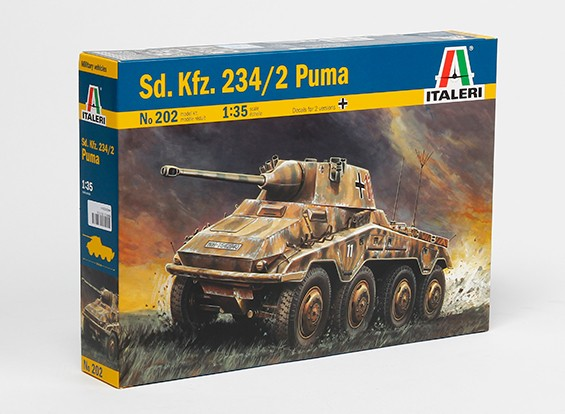 Italeri 1/35 Scale SD.KFZ. 234/2 Puma Pastic Model Kit