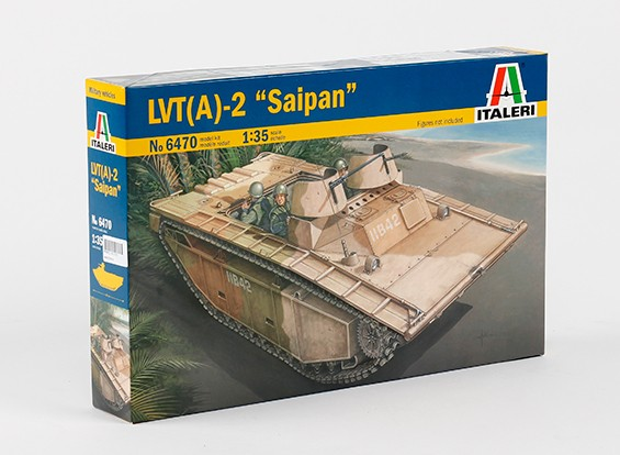 Italeri 1/35 Scale LVT-(A) 2 Saipan Plastic Model Kit