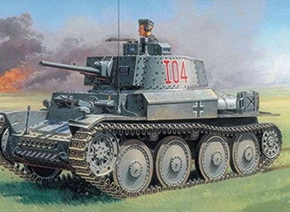Italeri 1/35 Scale PZ.KPFW. 38(T) Ausf. F Plastic Model Kit
