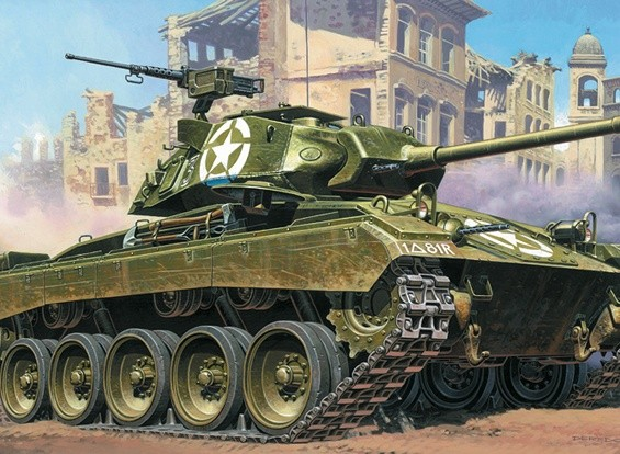 Italeri 1/35 Scale M24 Chaffee Plastic Model Kit