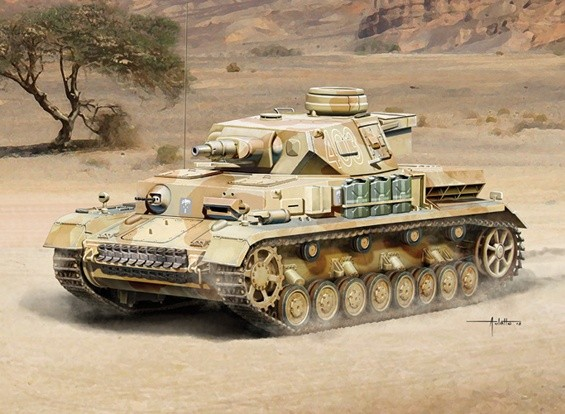 Italeri 1/35 Scale Pz. Kpfw. IV Ausf. F1/F2 early G Plastic Model Kit