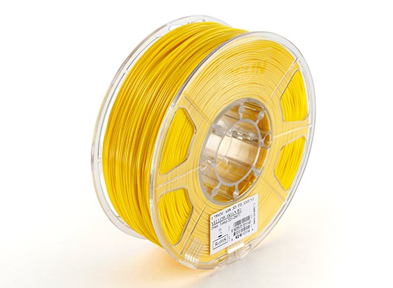 ESUN 3D Printer Filament Yellow 1.75mm ABS 1KG Roll