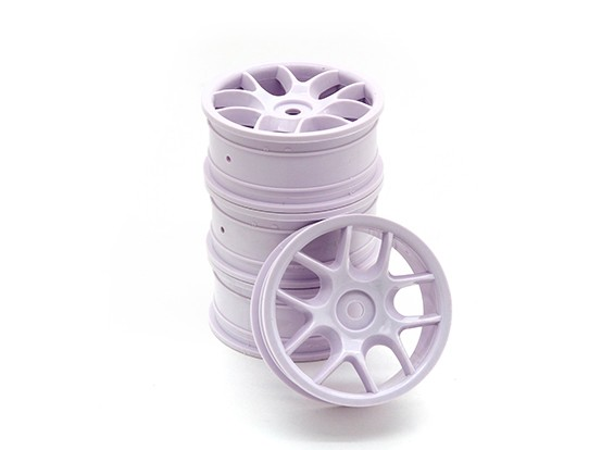 RiDE 1/10 Touring 24mm 10 Spoke Wheel 0mm Offset (4pcs)