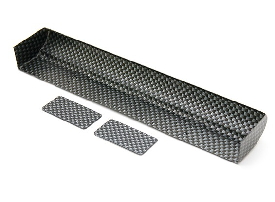 RiDE Ultra High Downforce HD Lip Carbon Pattern Wing - IFMAR approved (Pre-cut)