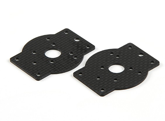HobbyKing™ S600/S700 Carbon and Metal Quad/Hexacopter Carbon Fiber Motor Mount (2pcs)