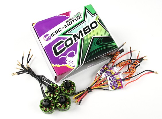 MultiStar & Afro Combo Pack - 2206 Baby Beast V2 Motor and 12A Afro ESC Set of 4 CW/CCW