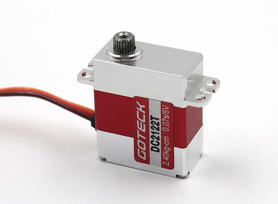 Goteck DC2122T Digital MG Metal Cased Mini Servo 3.0kg / 0.06sec / 20g