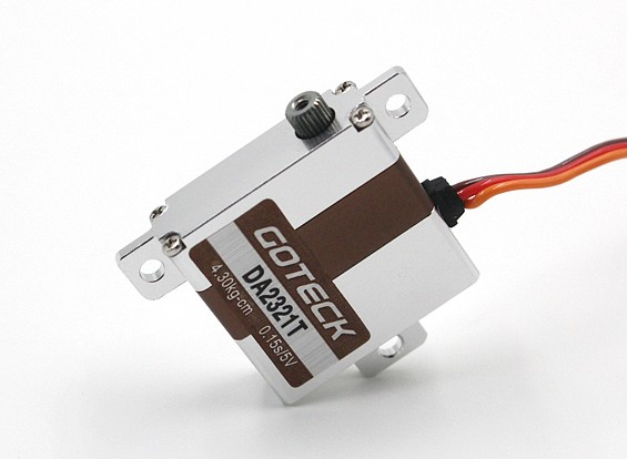Goteck DA2321T Digital MG Metal Cased Wing Servo 5.2kg/ 0.12sec / 23g