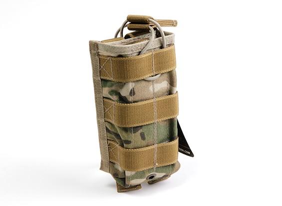 SWAT Cordura M4 Open-Top Molle Single Magazine Pouch (Multicam)
