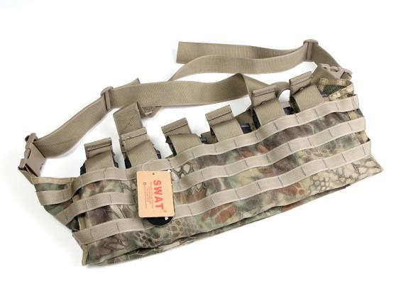 SWAT Cordura Molle Front Chest Rig (Kryptek Mandrake)