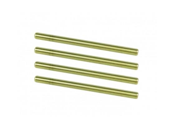 Suspension Inner Titanium Coated Pin Set - 3Racing SAKURA FF 2014