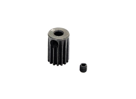 Hobbyking™ 0.5M Hardened Steel Helicopter Pinion Gear 3.17mm Shaft - 15T