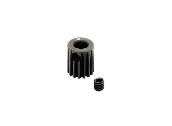 HobbyKing™ 0.6M Hardened Steel Helicopter Pinion Gear 5mm Shaft - 15T