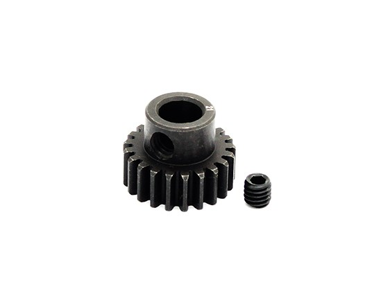 Hobbyking™ 0.7M Hardened Steel Helicopter Pinion Gear 6mm Shaft - 21T