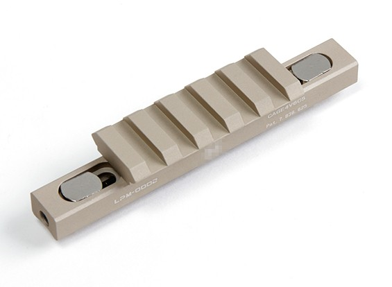 FMA 45 Degrees Lowpro 5 slot rail section (Dark Earth)