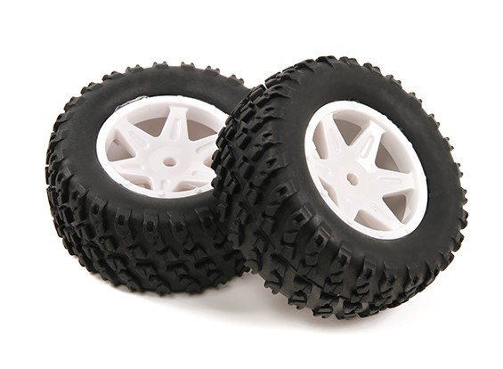 H-King Sand Storm 1/12 2WD Desert Buggy - Complete Rear Tire Set (2pcs)