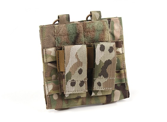 Grey Ghost Gear Double M4/Pistol mag with Chemlite Pouch(Multicam)