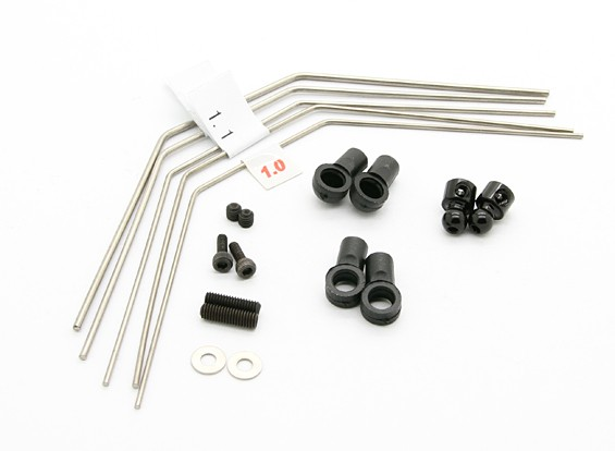 Anti-Sway Bar Set (1.0/1.1/1.2/1.3/1.4) - BZ-444 Pro 1/10 4WD Racing Buggy