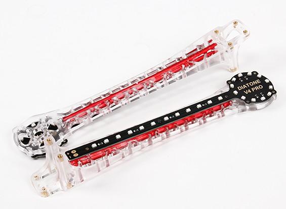 Upswept LED Upgrade Arms for V500 / H550 and DJI Flamewheel Multirotors (Red) (2pcs)