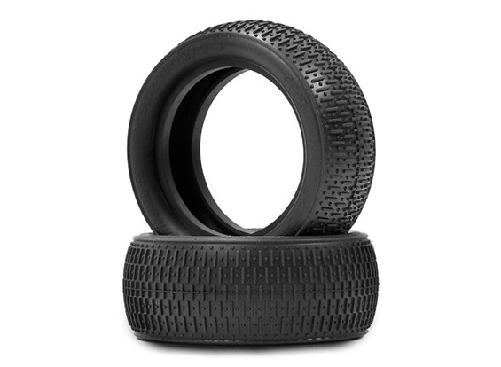 JCONCEPTS Bar Codes 1/10th 4WD Buggy Front Tyres - Green (Super Soft) Compound