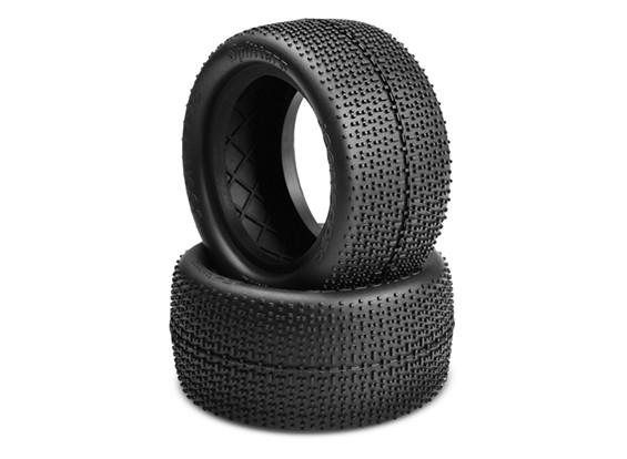 JCONCEPTS Splitters 1/10th Buggy Rear Tires - Black (Mega Soft) Compound