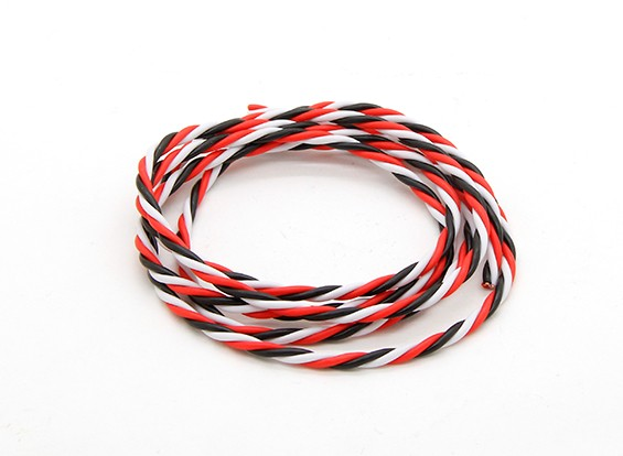 Twisted 22AWG Servo Wire Red/Black/White (1mtr)