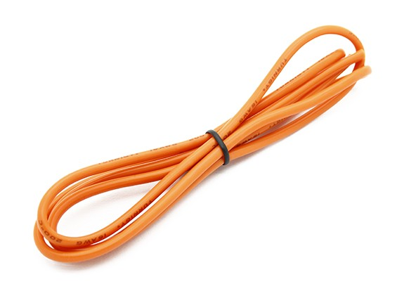 Turnigy High Quality 16AWG Silicone Wire 1m (Orange)