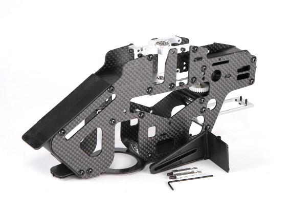 Assault 450DFC Belt Flybarless 3D Helicopter Carbon and Metal Main Frame Assembly