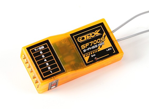OrangeRx SF700S Futaba FHSS Compatible 7ch 2.4Ghz Receiver with FS and SBus