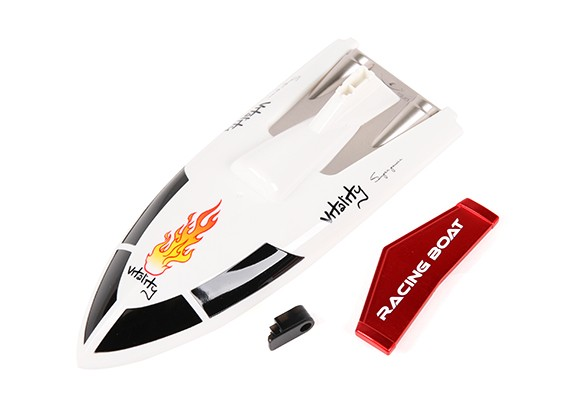 FT007 Vitality V-Hull Racing Boat 360mm Replacement Top Cover & Spoiler