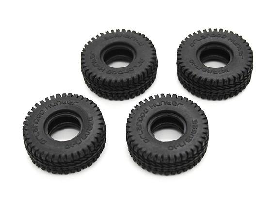 Small Block Tires (4pcs) - OH35P01 1/35 Rock Crawler Kit