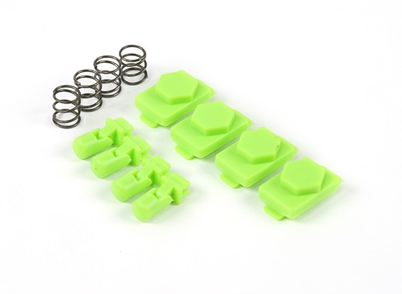 Hexmag Airsoft HexID Latchplates / Followers 4pcs Set (Zombie Green)
