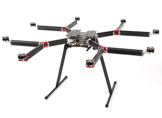 DYS D800 V-8 Professional Multi-Rotor Aerial Photography And Heavy Lift Platform (PNF)