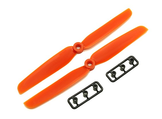 Gemfan 6030 GRP/Nylon Propellers CW/CCW Set (Orange) 6 x 3
