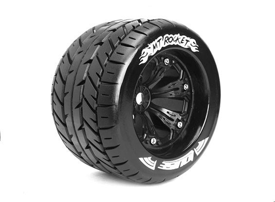 "LOUISE MT-ROCKET 1/8 Scale Traxxas Style Bead 3.8"" Monster Truck SPORT Compound / Black Rim"