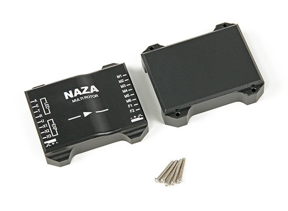 CNC Aluminum Protective Case For Naza Flight Controller (Black)