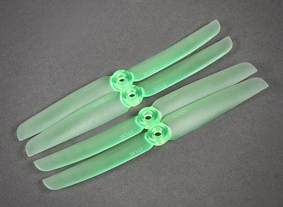 Ghost 6030 Green Propellers For Night Flying LED Illumination Set Of 4 (CW/CCW)