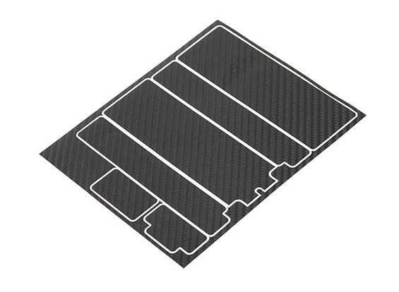 TrackStar Decorative Battery Cover Panels for Standard 2S Hardcase Black Carbon Pattern (1 Pc)