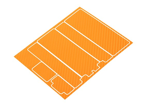 TrackStar Decorative Battery Cover Panels for Standard 2S Hardcase Orange Carbon Pattern (1 Pc)