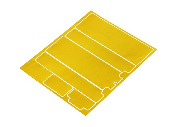 TrackStar Decorative Battery Cover Panels for Standard 2S Hardcase Metallic Gold (1 Pc)