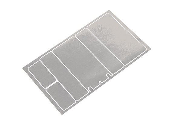 TrackStar Decorative Battery Cover Panels for 2S Shorty Pack Chrome Color (1 Pc)