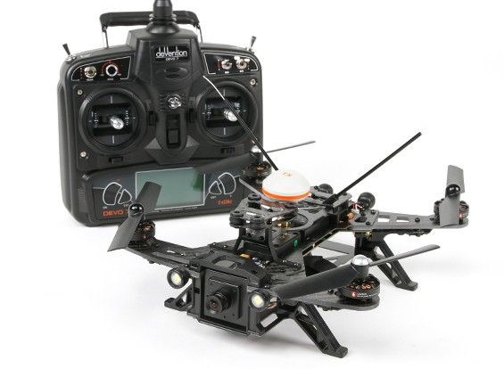 Walkera Runner 250 FPV Racing Quadcopter w/Mode 1 Devo 7/Battery/Charger/Camera/VTX/OSD (RTF)
