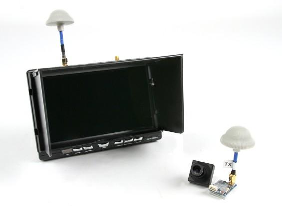 "Quanum FPV 5.8Ghz AV Transmitter, 7"" HD 5.8Ghz Monitor/Diversity Receiver And Camera Bundle Set"